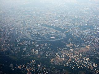 View of Moscow from the plane