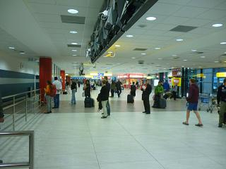 The arrivals hall at Prague airport