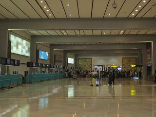 The check-in area in terminal 2 of airport Jakarta, Soekarno-Hatta