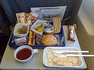 питание на рейсе Москва-Норильск авиакомпании Кавминводыавиа