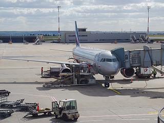 Airbus A320 of Aeroflot at the airport Paris Charles de Gaulle