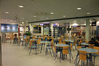 The waiting room at the departure area of the airport in Kajaani