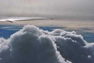 Clouds over the Crimea during takeoff from Simferopol