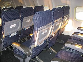 Экономический класс в самолете Боинг-737-500 авиакомпании ЮТэйр
