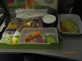 Питание на рейсе авиакмпании S7 Airlines Новосибирск-Гонконг