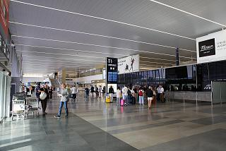 The arrivals area in terminal 1 of Prague airport