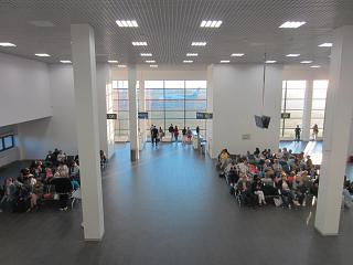 The waiting room in a sterile area of the airport Zhukovskiy
