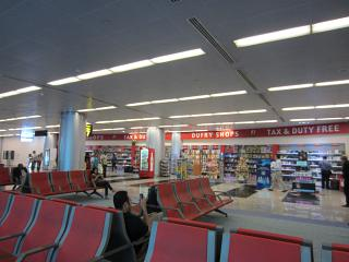 The duty free shops at the airport Sharjah
