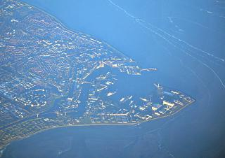 The port of Den Helder in the North sea