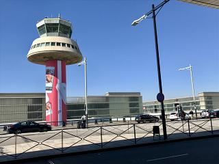 The control tower of the airport of El Prat in Barcelona