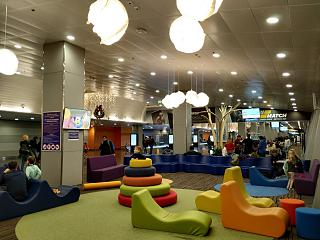 The children's area at the airport Borispol