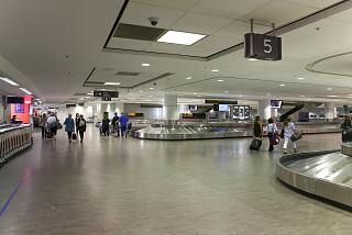 Baggage claim in Terminal 3 of Toronto Pearson international airport