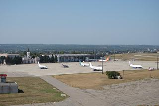 The platform of the Kharkiv airport