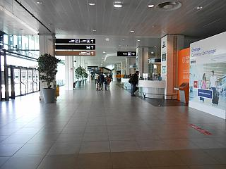 In the arrivals hall of Terminal 1 of the airport of Lyon Saint-exup