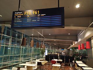 Зал ожидания у выхода на посадку в терминале 5 аэропорта Стокгольм Арланда