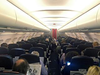 The cabin of the Airbus A319 F-GRHZ Air France