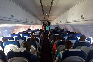 "The cabin of the Tu-214 ""Transaero"""