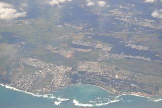In flight over Puerto Rico
