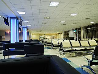 The waiting room in clean area of Vladivostok airport