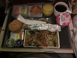Food on flight Singapore-Moscow Singapore Airlines