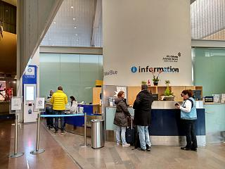 Information Desk in terminal 5 of Stockholm airport Arlanda