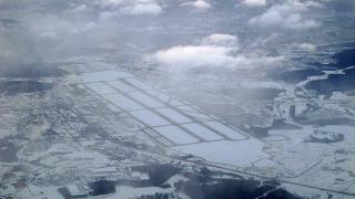Вид из самолета на аэропорт Шереметьево