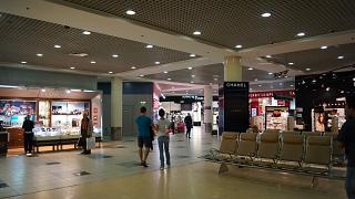 Duty-free shops in the net international departures area of Domodedovo airport