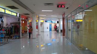 The shopping area at the airport Pattimura