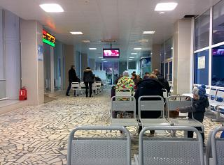 The waiting room in clean area of Syktyvkar airport