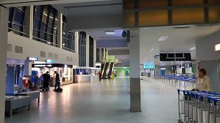 In the passenger terminal of Yakutsk airport