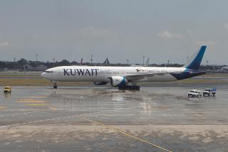 Самолет Boeing 777-300ER авиакомпании Kuwait Airways в аэропорту Стамбул Ататюрк