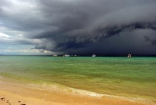 Storm clouds over Andaman sea in Krabi province