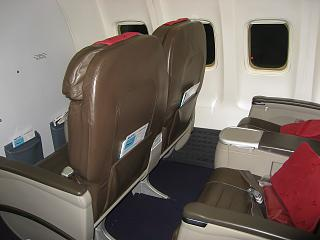 Business class on the Boeing-737-700 EI-RUL Transaero airlines