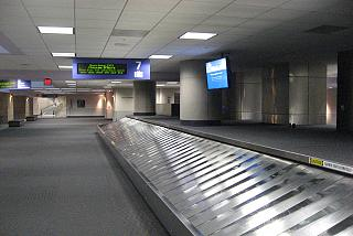 Baggage claim at the Tucson airport