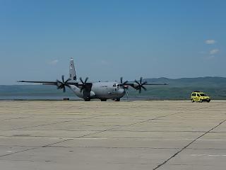 Самолет C-130 Hercules ВВС США в аэропорту Бургас