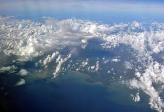 Clouds over the Gulf coast