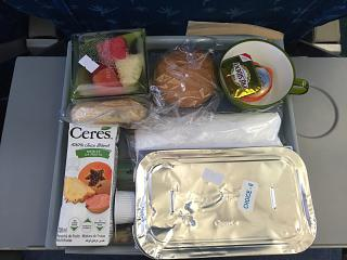 Бортпитание на рейсе Маврикий-Дурбан авиакомпании Air Mauritius