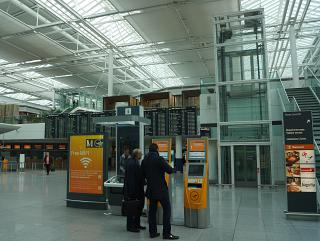 Hall check-in for Lufthansa flights in Terminal 2 at Munich airport