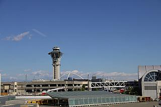 The control tower at the airport in Los Angeles