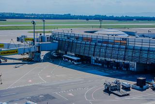 Gates at sector D of the airport Vienna Schwechat