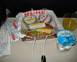 Food on the flight Istanbul-Adana Turkish airlines