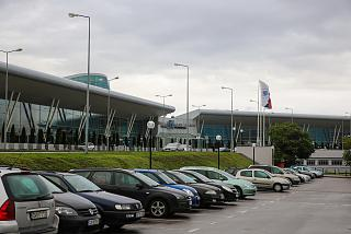 The entrance to the terminal 2 of Sofia airport