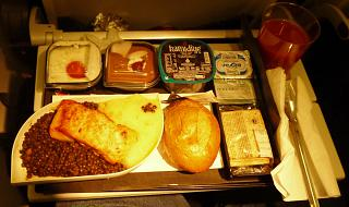 Flight meals on the flight of Turkish airlines Istanbul-Tehran