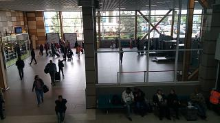 In the terminal B of the airport Simferopol