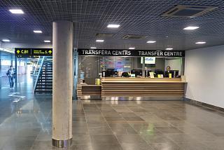 Transfer Centre desk at Riga Airport