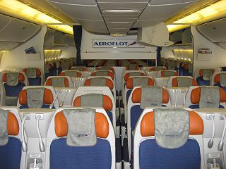 Interior comfort-class Boeing 777-300 Aeroflot