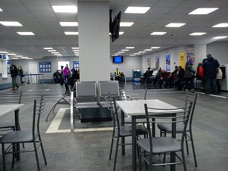 The waiting room at the airport Apatity Khibiny