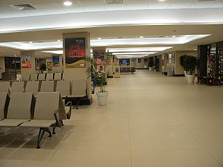 The departure lounge in a clean area of the airport of Aqaba