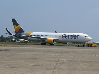 A Boeing-767-300 Condor airlines from male airport