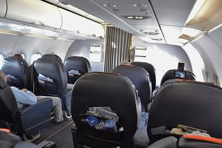 The business class in the Airbus A320 of Aeroflot